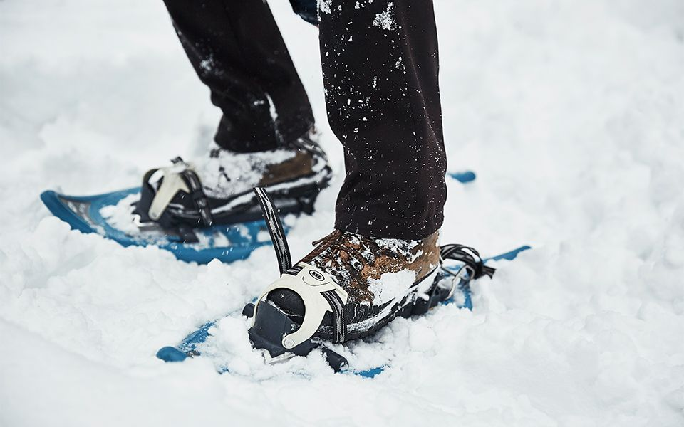 Snowshoes in deep snow