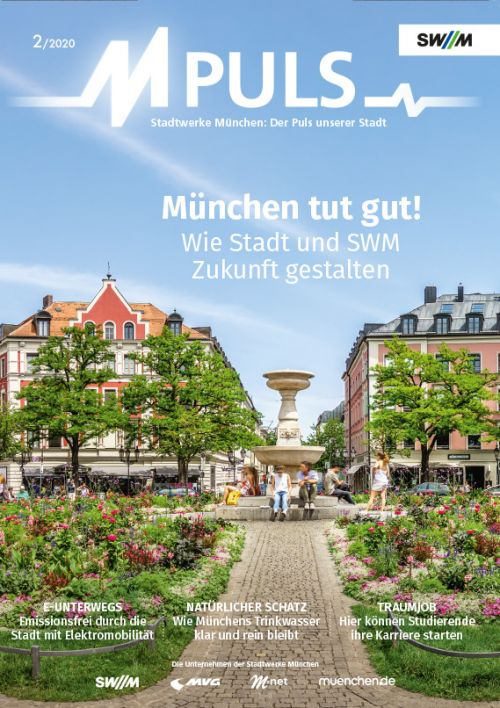 Cover of the M-Puls magazine 02/2020